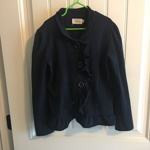 Navy ruffle jacket